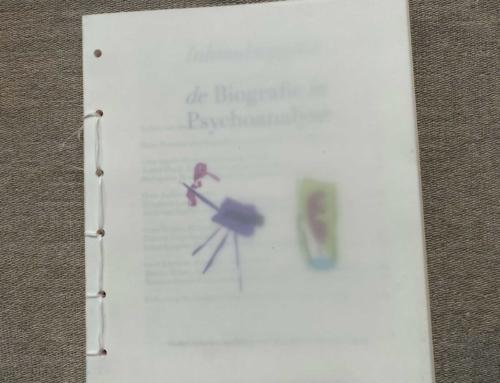 """Boekje """"de Biografie in Psychoanalyse"""" voor donateurs"""